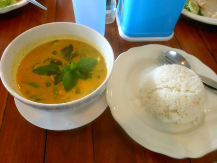 Red curry (yes, red curry is yellow)