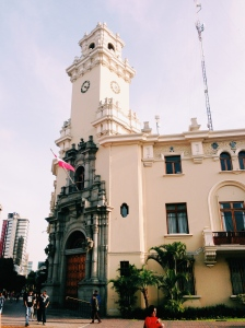 Colonial church in Miraflores, Lima, Peru