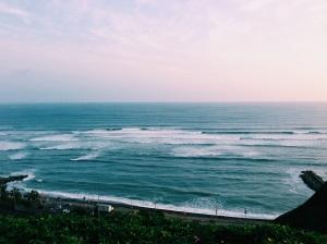 Pacific Ocean from Parque de Amor, Miraflores, Lima, Peru