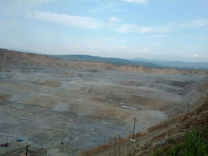 This is where they mine for copper. We toured the entire copper mine.