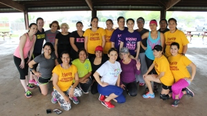 Los Fresnos Tu Salud Si Cuenta Zumba class.  Permission for use by UT Brownsville SPH.