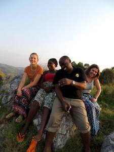 A trip to Joram's village where we ate too much and hiked up a hill to burn off the calories and get an amazing view