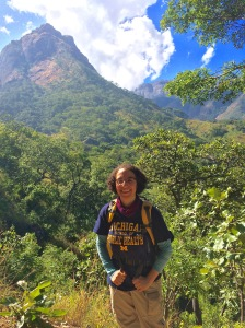 Here I am on the first day of our three-day hike up to the summit of Mount Mulanje. A hard and fast hike but still smiling!