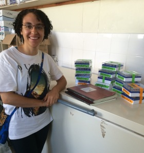 While running my final qPCR plate, Alex took this photo of me next to my total combined data and samples in lab (less than two hours before my departing flight!)